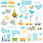 Bella Blvd - Cute Baby Boy Collection - Die Cut Cardstock Pieces