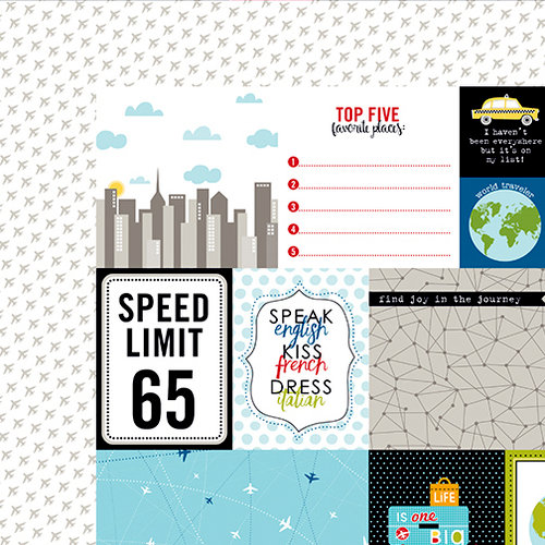 Bella Blvd - Lets Go Collection - 12 x 12 Double Sided Paper - Daily Details