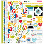 Bella Blvd - Lets Go Collection - 12 x 12 Cardstock Stickers - Treasures and Text