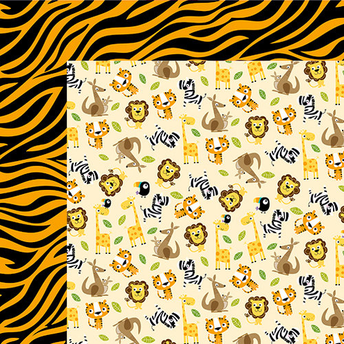 Bella Blvd - The Zoo Crew Collection - 12 x 12 Double Sided Paper - This Place is a Zoo