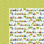 Bella Blvd - The Zoo Crew Collection - 12 x 12 Double Sided Paper - Train Ride