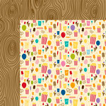 Bella Blvd - The Zoo Crew Collection - 12 x 12 Double Sided Paper - Snack Time