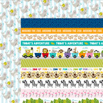 Bella Blvd - The Zoo Crew Collection - 12 x 12 Double Sided Paper - Borders