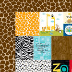 Bella Blvd - The Zoo Crew Collection - 12 x 12 Double Sided Paper - Daily Details