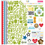 Bella Blvd - The Zoo Crew Collection - 12 x 12 Cardstock Stickers - Treasures and Text
