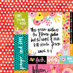 Bella Blvd - Illustrated Faith - She Blooms Collection - 12 x 12 Double Sided Paper - Art Prints
