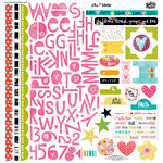 Bella Blvd - Illustrated Faith - She Blooms Collection - 12 x 12 Cardstock Stickers - Treasures and Text