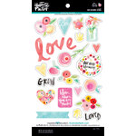 Bella Blvd - Illustrated Faith - She Blooms Collection - Ciao Chip - Self Adhesive Chipboard - Icons