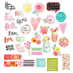 Bella Blvd - Illustrated Faith - She Blooms Collection - Die Cut Cardstock Pieces