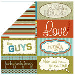 Bella Blvd - Man of the House Collection - 12 x 12 Double Sided Paper - Billboards, CLEARANCE