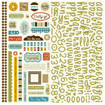 Bella Blvd - Man of the House Collection - 12 x 12 Cardstock Stickers - Alphabet and Bits, CLEARANCE