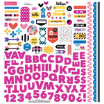 Bella Blvd - Addison Collection - 12 x 12 Cardstock Stickers - Fundamentals