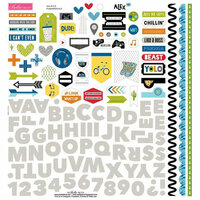 Bella Blvd - Alex Collection - 12 x 12 Cardstock Stickers - Fundamentals