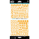 Bella Blvd - Illustrated Faith - Cardstock Stickers - Alphabet - Homespun - Practice What You Peach