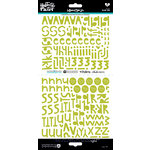 Bella Blvd - Illustrated Faith - Cardstock Stickers - Alphabet - Homespun - Olive You