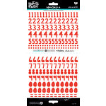 Bella Blvd - Illustrated Faith - Cardstock Stickers - Numbers - Homespun - Apple of My Eye