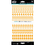 Bella Blvd - Illustrated Faith - Cardstock Stickers - Numbers - Homespun - Practice What You Peach