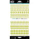 Bella Blvd - Illustrated Faith - Cardstock Stickers - Numbers - Homespun - Olive You