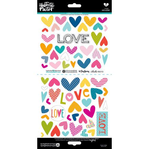 Bella Blvd - Illustrated Faith - Cardstock Stickers - His Love