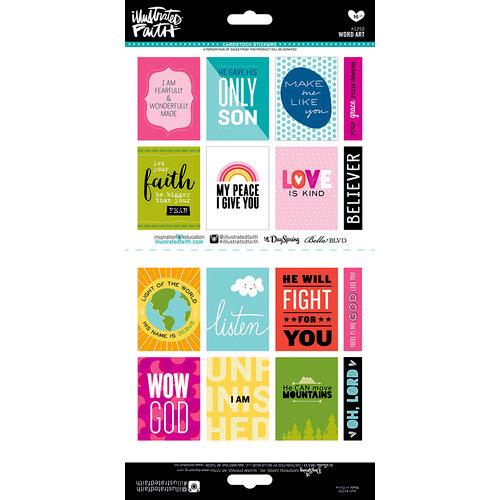 Bella Blvd - Illustrated Faith - Cardstock Stickers - Word Art
