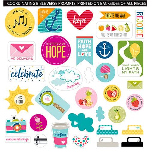 Bella Blvd - Illustrated Faith - Die Cut Cardstock Pieces - Encouragement