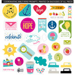 Bella Blvd - Illustrated Faith - Die Cut Cardstock Pieces - Encouragement