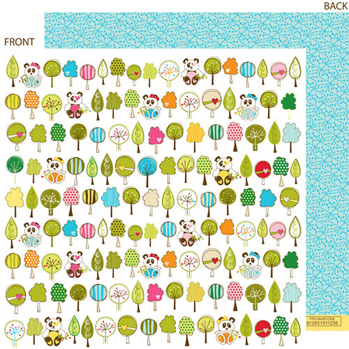 Bella Blvd - Sunny Happy Skies Collection - 12 x 12 Double Sided Paper - Pandaland, CLEARANCE