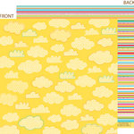 Bella Blvd - Sunny Happy Skies Collection - 12 x 12 Double Sided Paper - Creamsicle Clouds, CLEARANCE