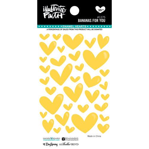 Bella Blvd - Illustrated Faith - Enamel Hearts - Bananas For You