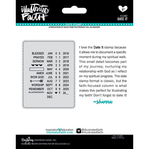 Bella Blvd - Illustrated Faith - Roller Stamp - Date It