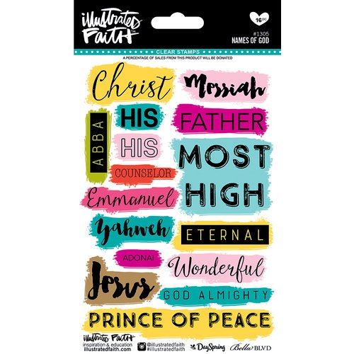 Bella Blvd - Illustrated Faith - Clear Acrylic Stamps - Names of God
