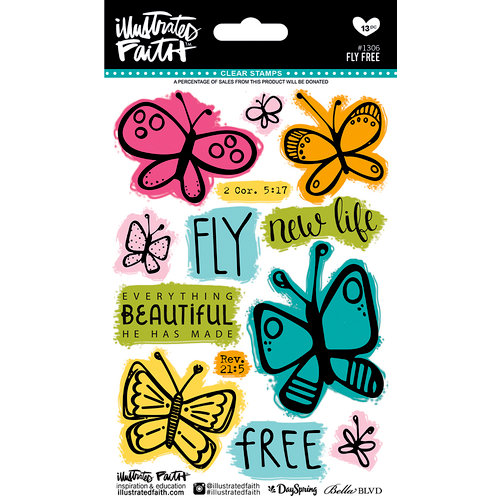 Bella Blvd - Illustrated Faith - Clear Acrylic Stamps - Fly Free