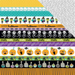 Bella Blvd - Spooktacular Collection - Halloween - 12 x 12 Double Sided Paper - Borders