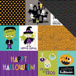 Bella Blvd - Spooktacular Collection - Halloween - 12 x 12 Double Sided Paper - Daily Details