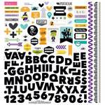 Bella Blvd - Spooktacular Collection - Halloween - 12 x 12 Cardstock Stickers - Fundamentals