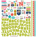 Bella Blvd - Holly Jolly Christmas Collection - 12 x 12 Cardstock Stickers - Fundamentals