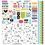 Bella Blvd - Oh My Stars Collection - 12 x 12 Cardstock Stickers - Fundamentals