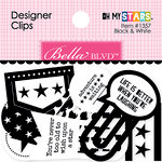Bella Blvd - Oh My Stars Collection - Designer Clips - Black and White