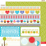 Bella Blvd - Hello Beautiful Collection - 12 x 12 Double Sided Paper - Borders N' Blocks, CLEARANCE