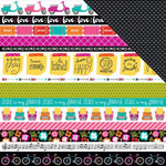 Bella Blvd - Illustrated Faith - Bright and Brave Collection - 12 x 12 Double Sided Paper - Borders