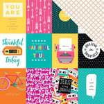 Bella Blvd - Illustrated Faith - Bright and Brave Collection - 12 x 12 Double Sided Paper - 3 x 4s