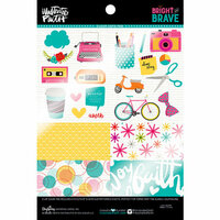 Bella Blvd - Illustrated Faith - Bright and Brave Collection - 6 x 8 Clear Cuts Pad