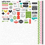Bella Blvd - Illustrated Faith - CHRISTmas Collection - 12 x 12 Cardstock Stickers - Fundamentals