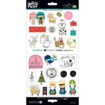 Bella Blvd - Illustrated Faith - CHRISTmas Collection - Cardstock Stickers - Elements