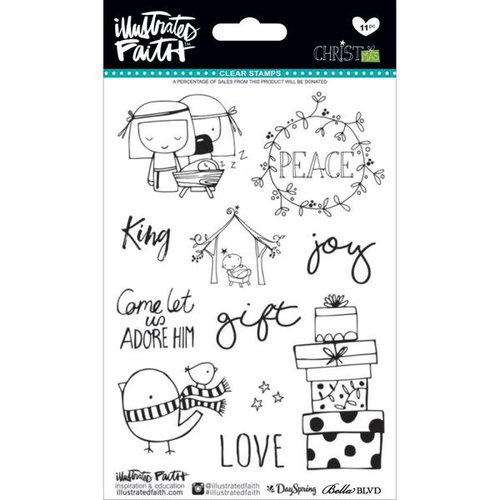 Bella Blvd - Illustrated Faith - CHRISTmas Collection - Clear Acrylic Stamps
