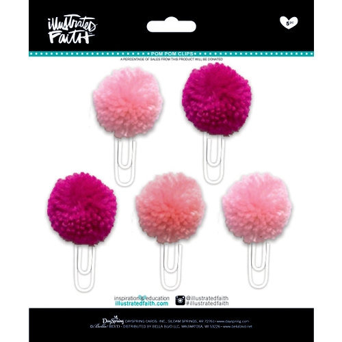 Bella Blvd - Illustrated Faith - Basics Collection - Pom Pom Clips - Bless Her Heart Mix
