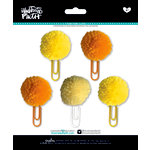 Bella Blvd - Illustrated Faith - Basics Collection - Pom Pom Clips - Bananas for You Mix