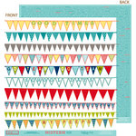 Bella Blvd - Midterm Collection - 12 x 12 Double Sided Paper - Pep Rally, CLEARANCE