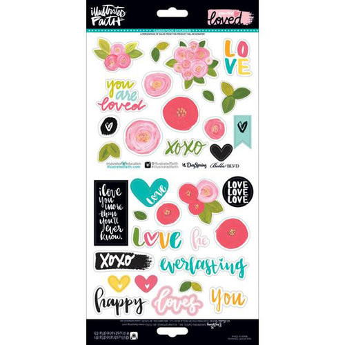 Bella Blvd - Illustrated Faith - You are Loved Collection - Cardstock Stickers - Elements