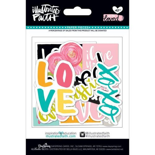 Bella Blvd - Illustrated Faith - You are Loved Collection - Paper Pieces